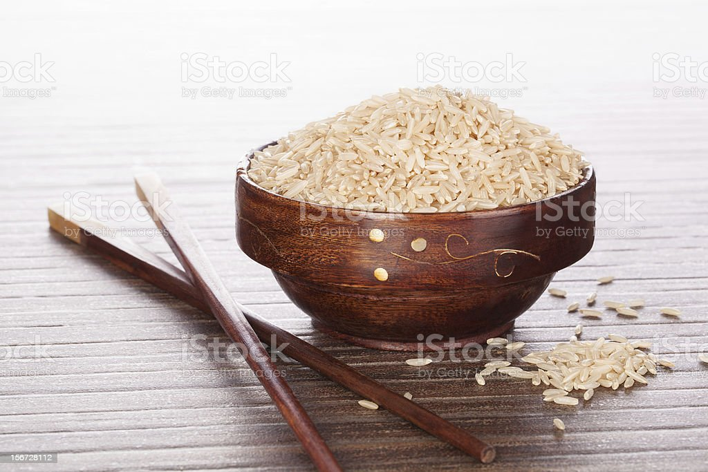 Asian cooking. Rice. royalty-free stock photo