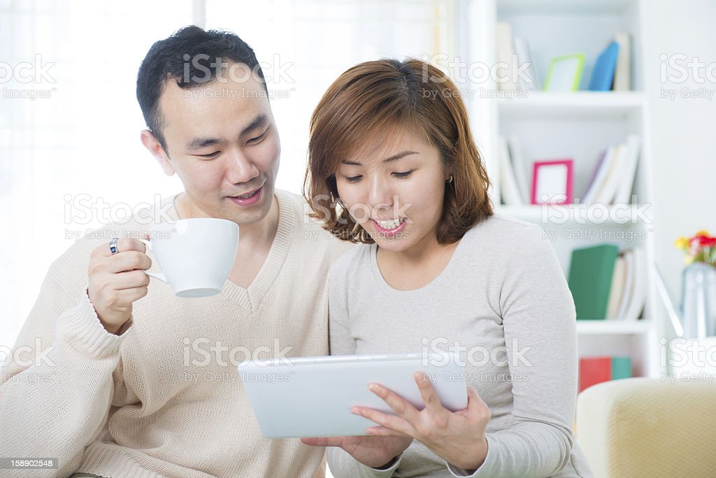 Asian couple royalty-free stock photo