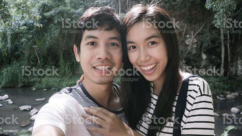 asian couple stock photo