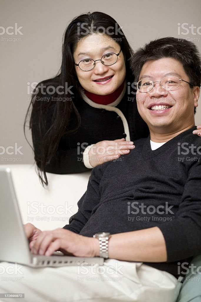 Asian couple portraits royalty-free stock photo