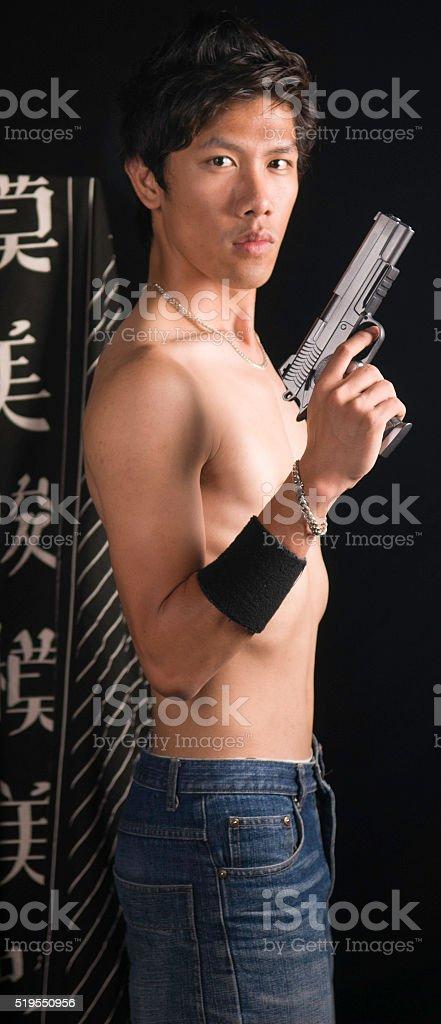 Asian criminal stock photo