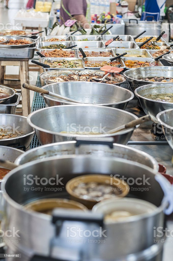 Asian Cuisine At A Sidewalk Cafe In Thailand royalty-free stock photo