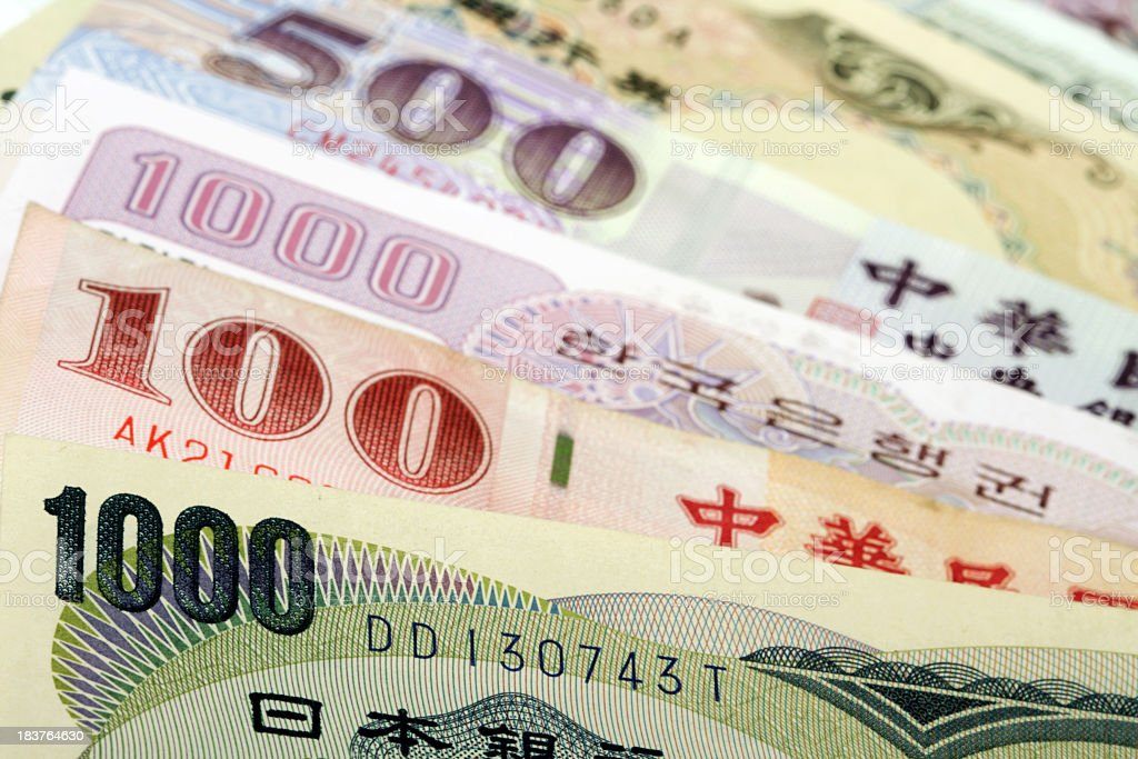 Asian currency royalty-free stock photo