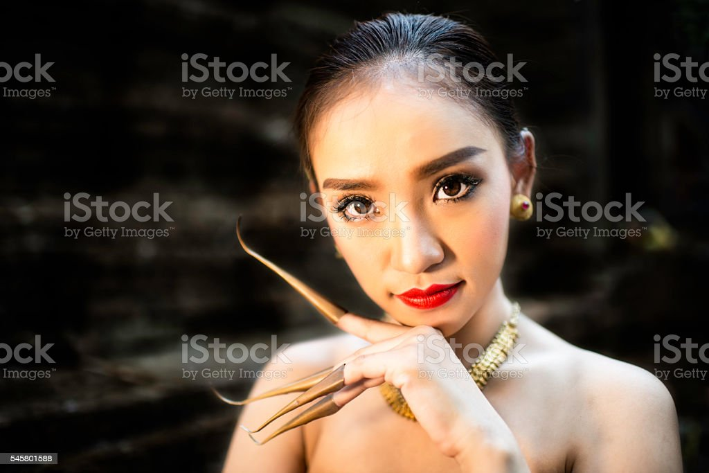 Asian Dancer stock photo