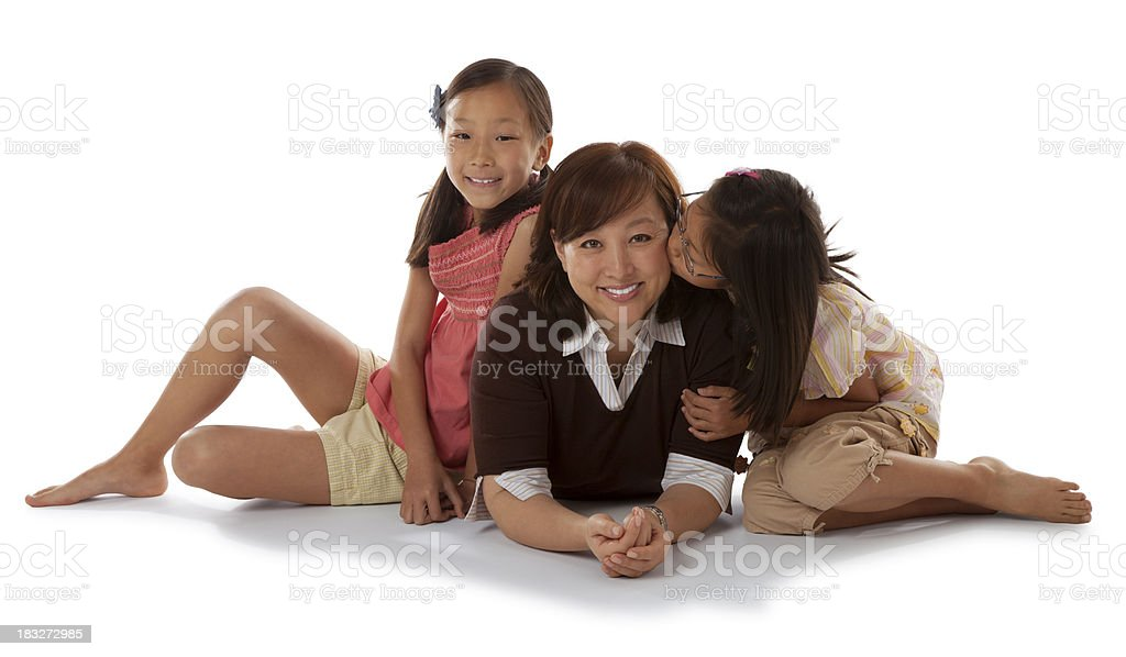 Asian Daughters and Mother royalty-free stock photo