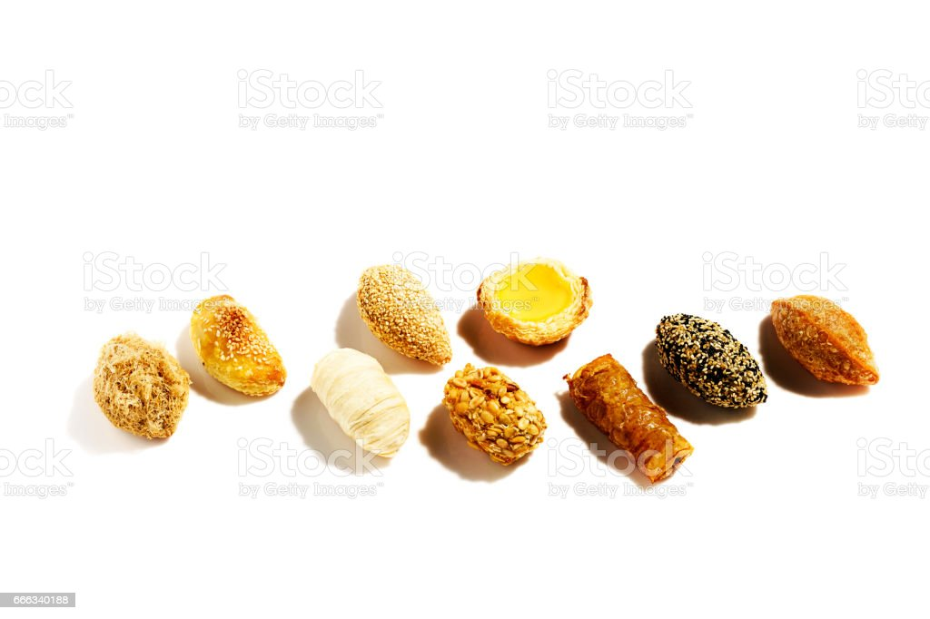 Asian dim sum sweet crispy snack on background stock photo