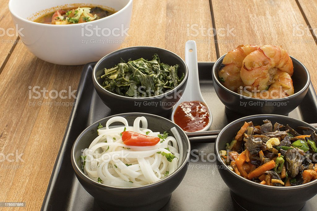 Asian dish with soup royalty-free stock photo