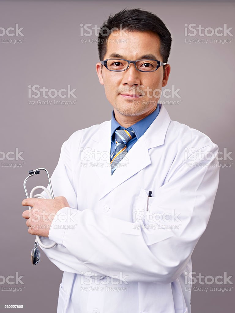 asian doctor stock photo