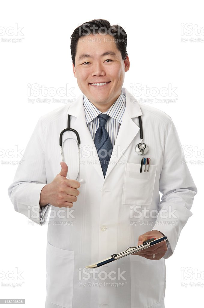 Asian Doctor With Thumbs Up royalty-free stock photo
