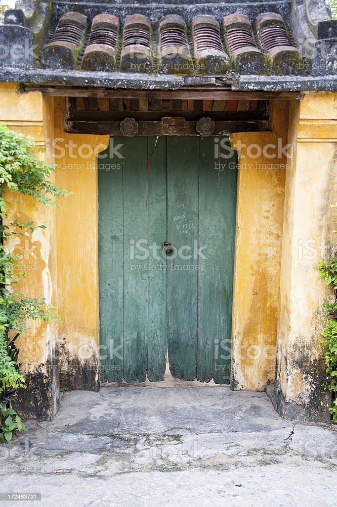 Asian Doorway stock photo