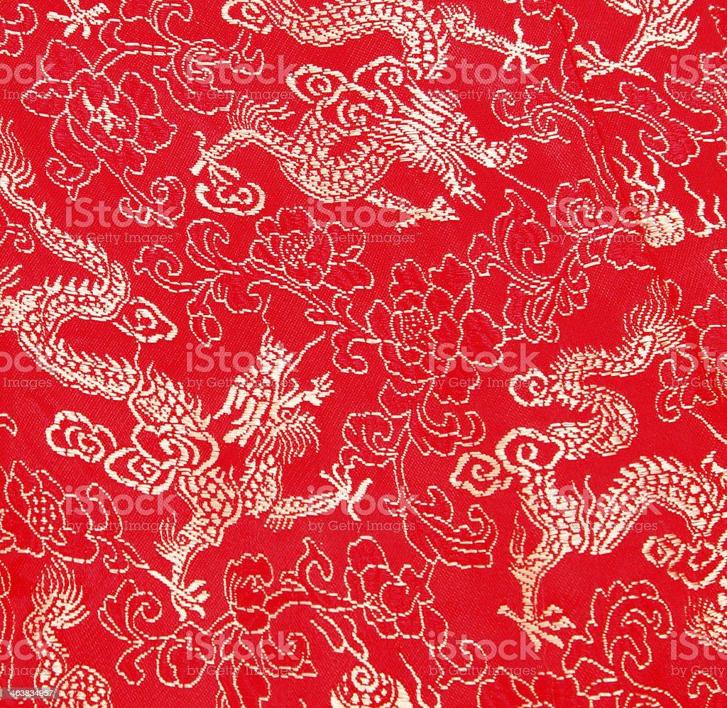 Asian dragon pattern stock photo