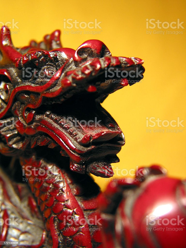 Asian Dragon Statue royalty-free stock photo