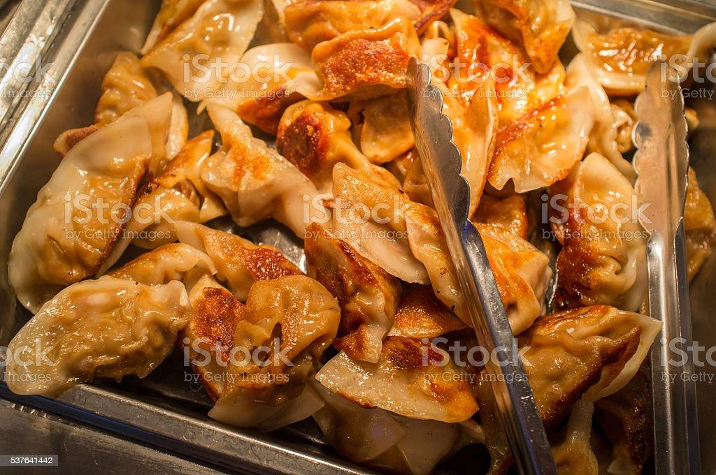 Asian Dumpling Potstickers stock photo