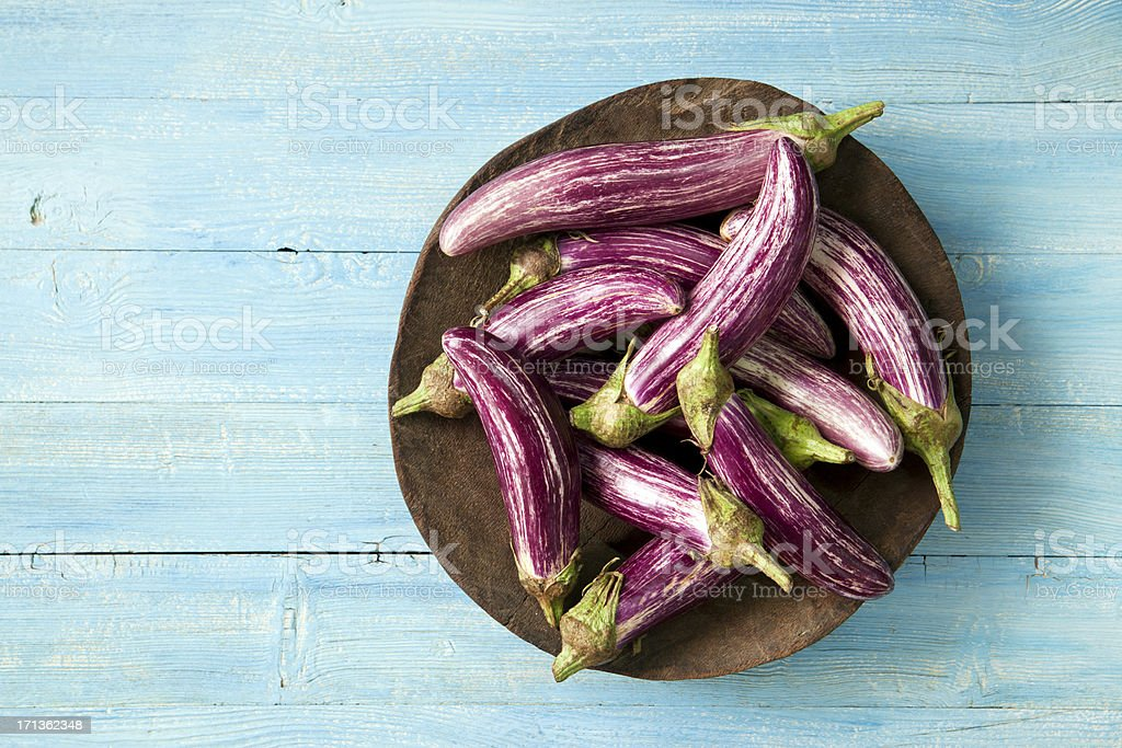 Asian eggplants stock photo