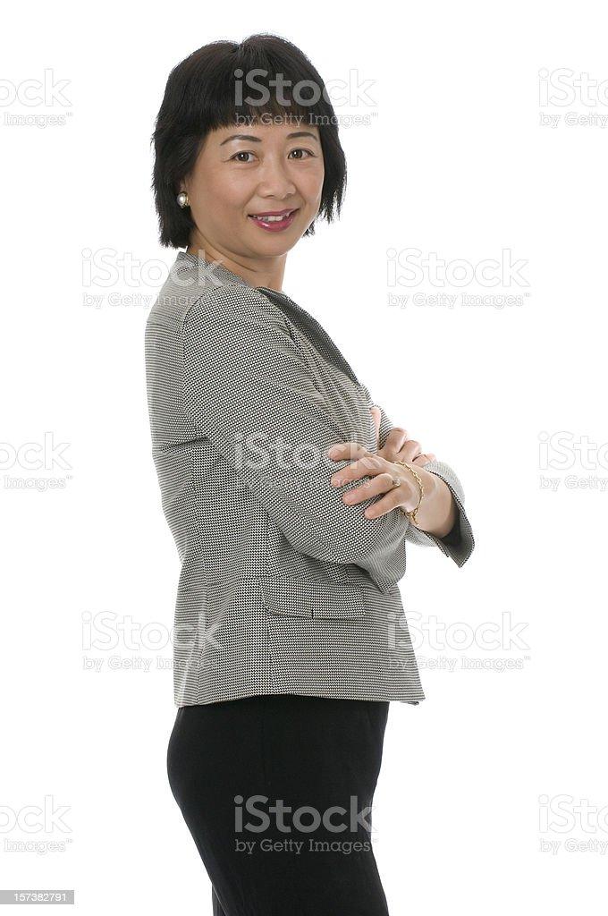 Asian executive business woman royalty-free stock photo