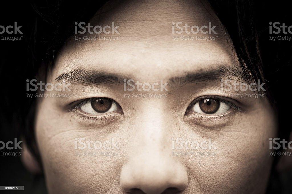 Asian eyes close up royalty-free stock photo