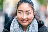 Asian Face Close Up