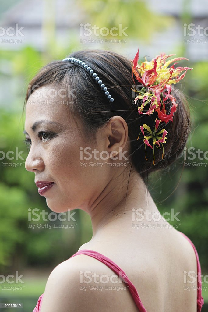Asian face royalty-free stock photo