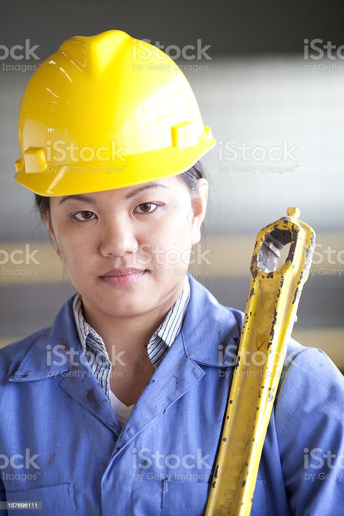 Asian Factory worker royalty-free stock photo