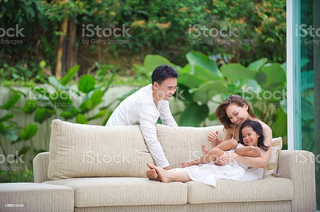 Asian Family Happy Together royalty-free stock photo