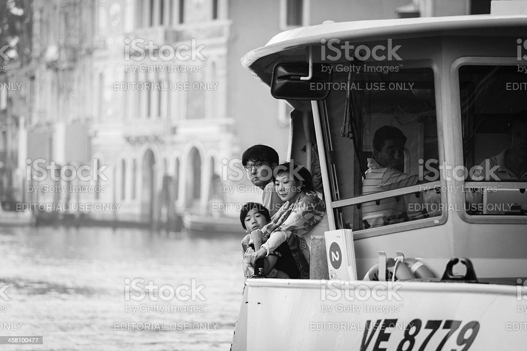 Asian family in Venice royalty-free stock photo