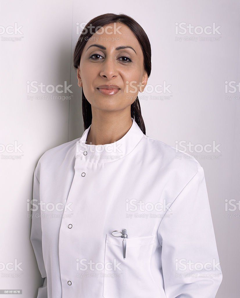 Asian female dentist stock photo