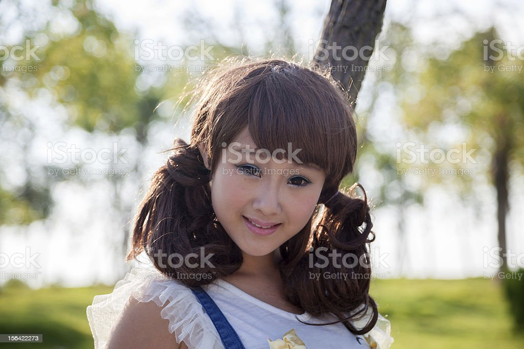 asian female in summer royalty-free stock photo