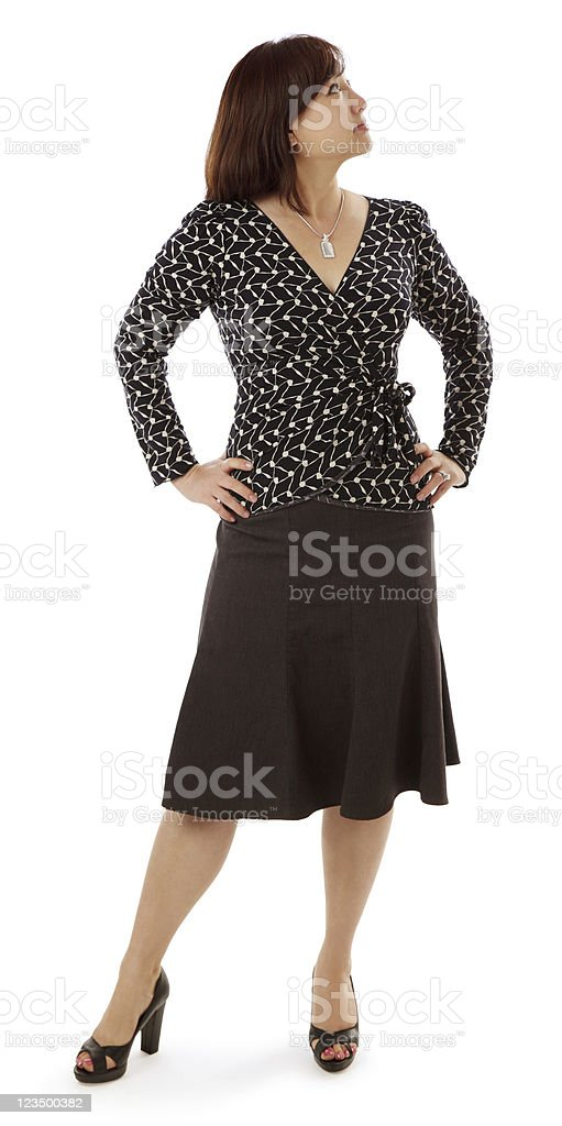 Asian Female Looking Up royalty-free stock photo