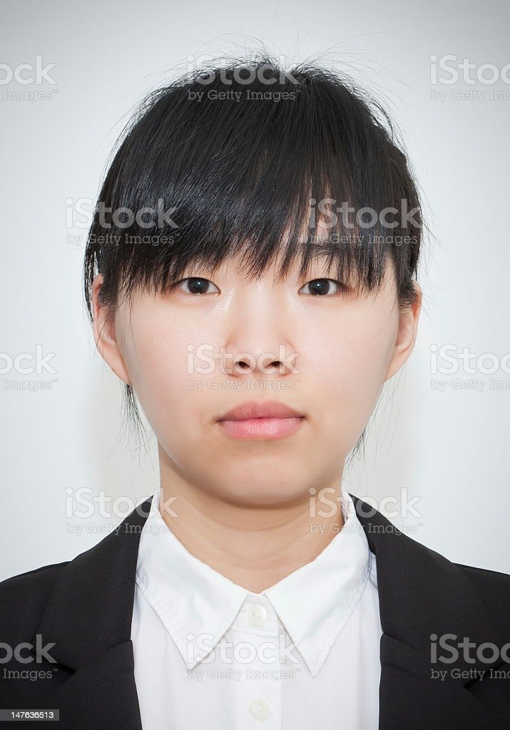 Asian female portrait closeup royalty-free stock photo