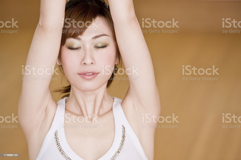 Asian female - yoga royalty-free stock photo