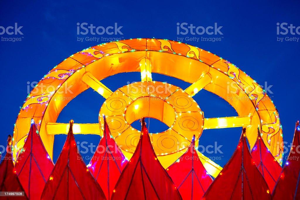 Asian Festival Lights stock photo