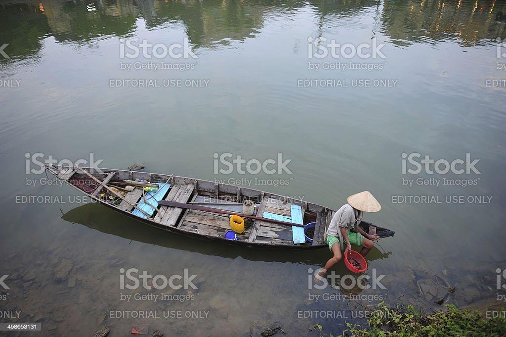 Asian fisherman royalty-free stock photo