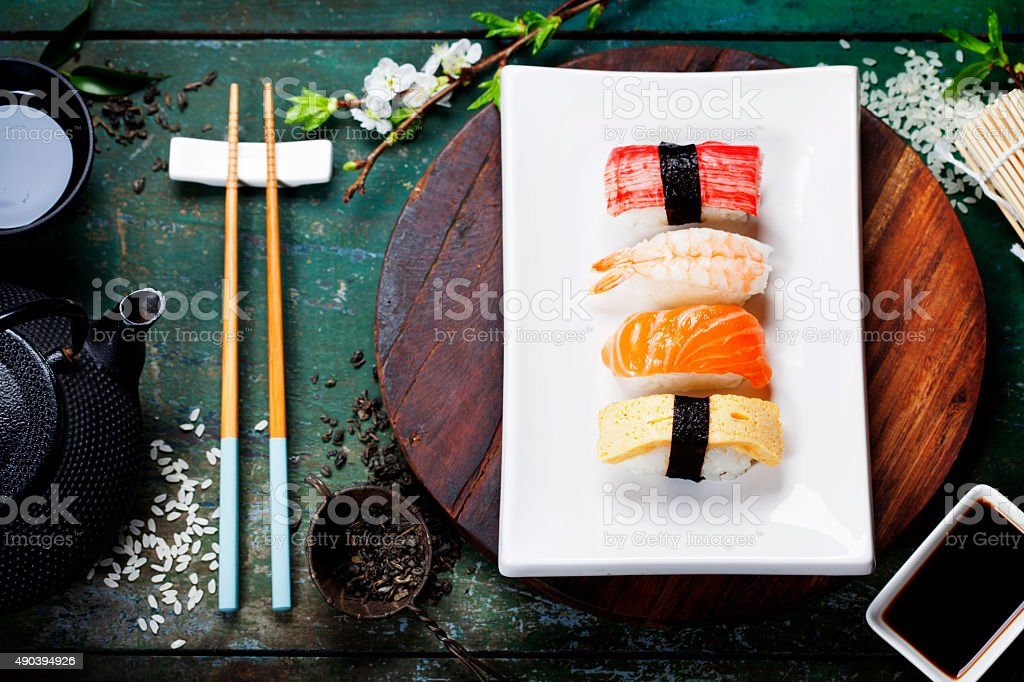 Asian food background stock photo