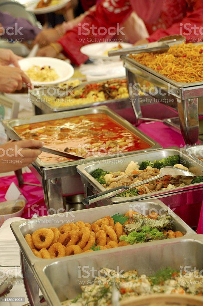 Asian food buffet royalty-free stock photo