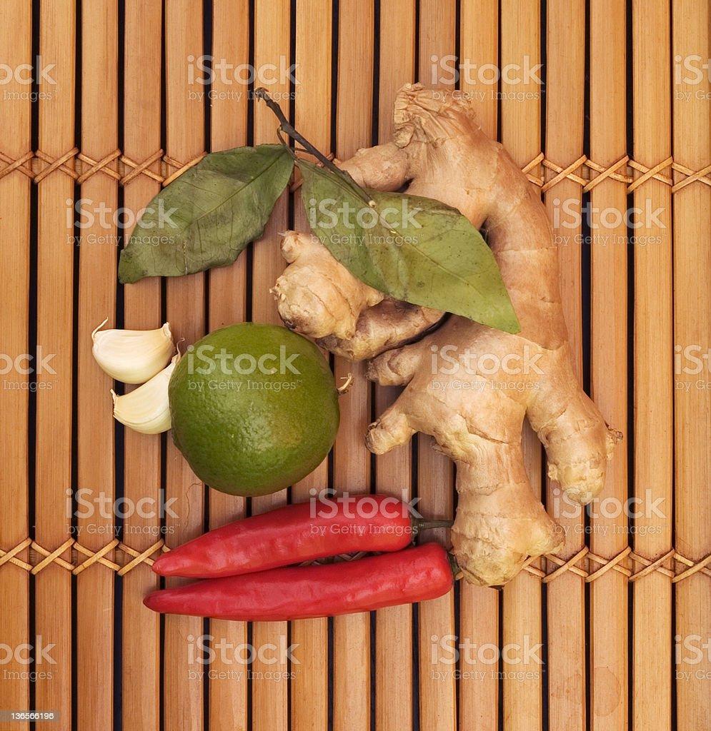 asian food ingredients royalty-free stock photo