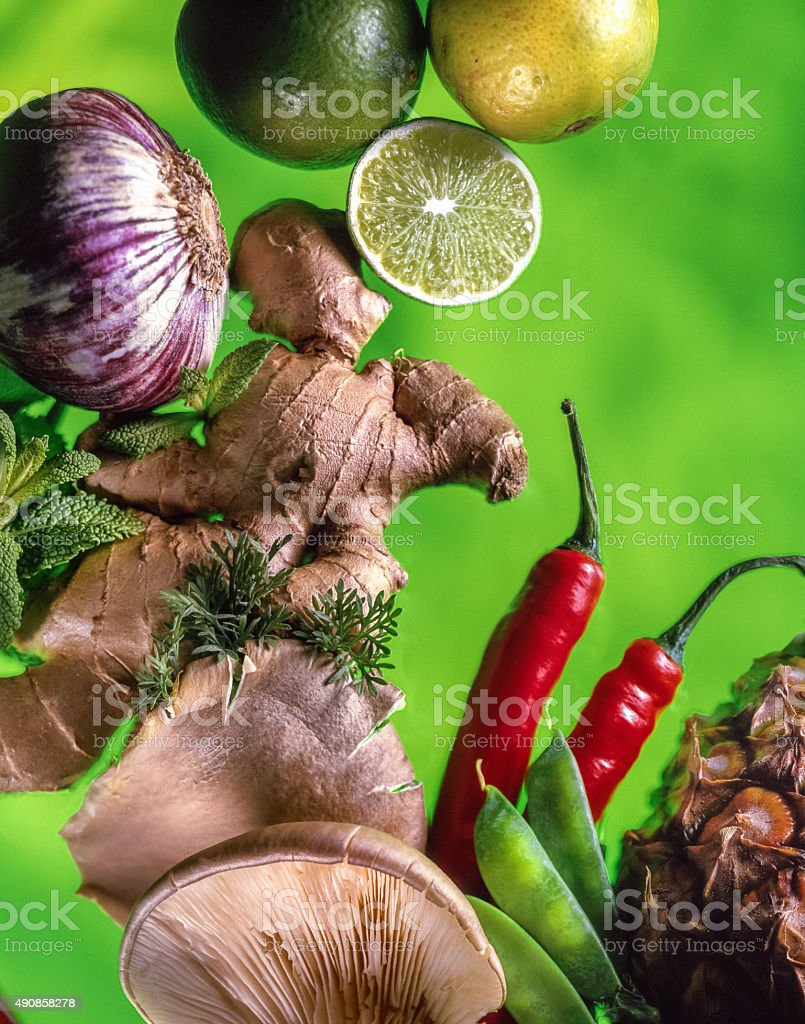 Asian food ingredients stock photo