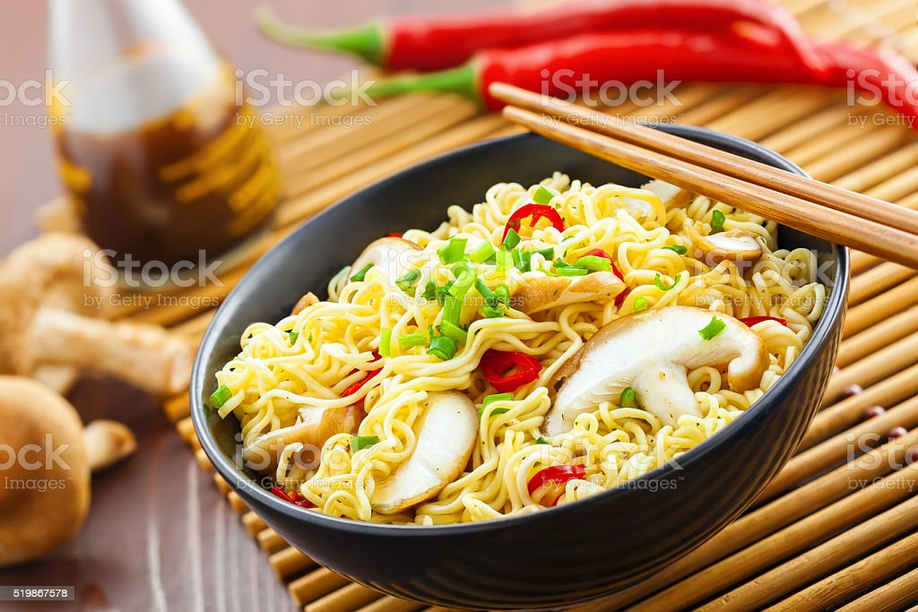 Asian food, noodles stock photo