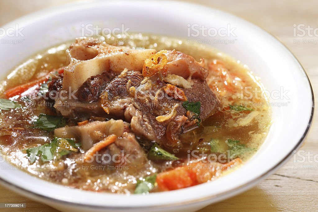 Asian food, Oxtail soup stock photo
