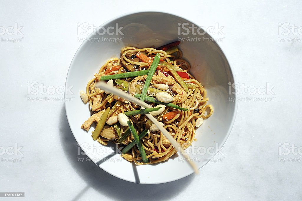 Asian Food (Noodles) royalty-free stock photo