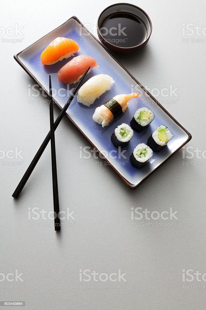 Asian Food: Sushi Still Life stock photo