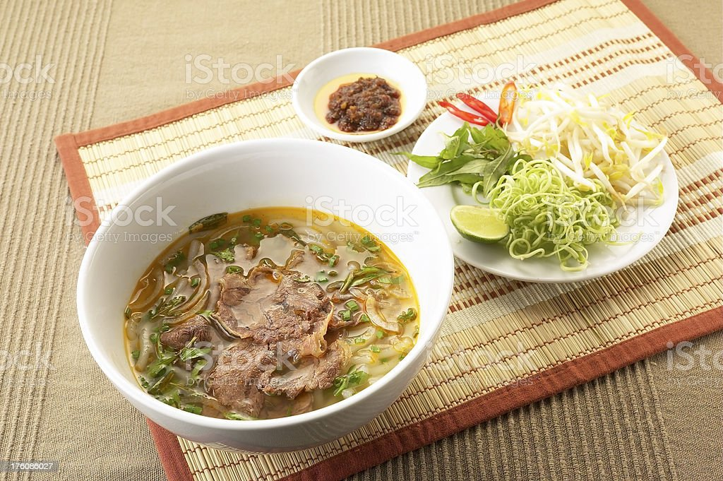 Asian Food-Beef noodle royalty-free stock photo