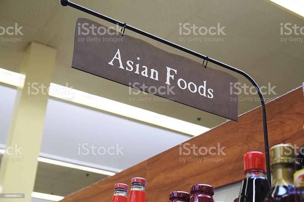 Asian Foods Isle royalty-free stock photo