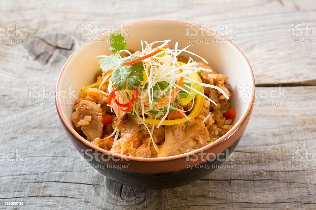 Asian fried rice stock photo