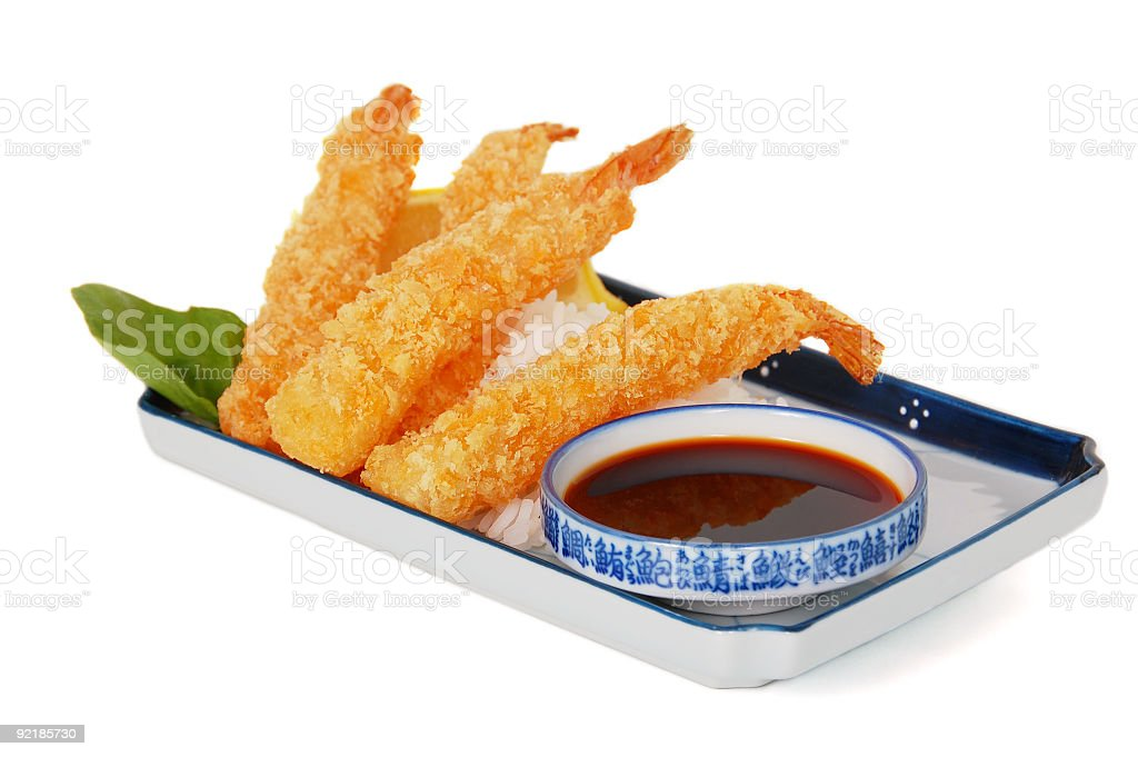 Asian Fried Shrimp stock photo