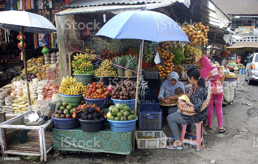 Asian fruit market royalty-free stock photo