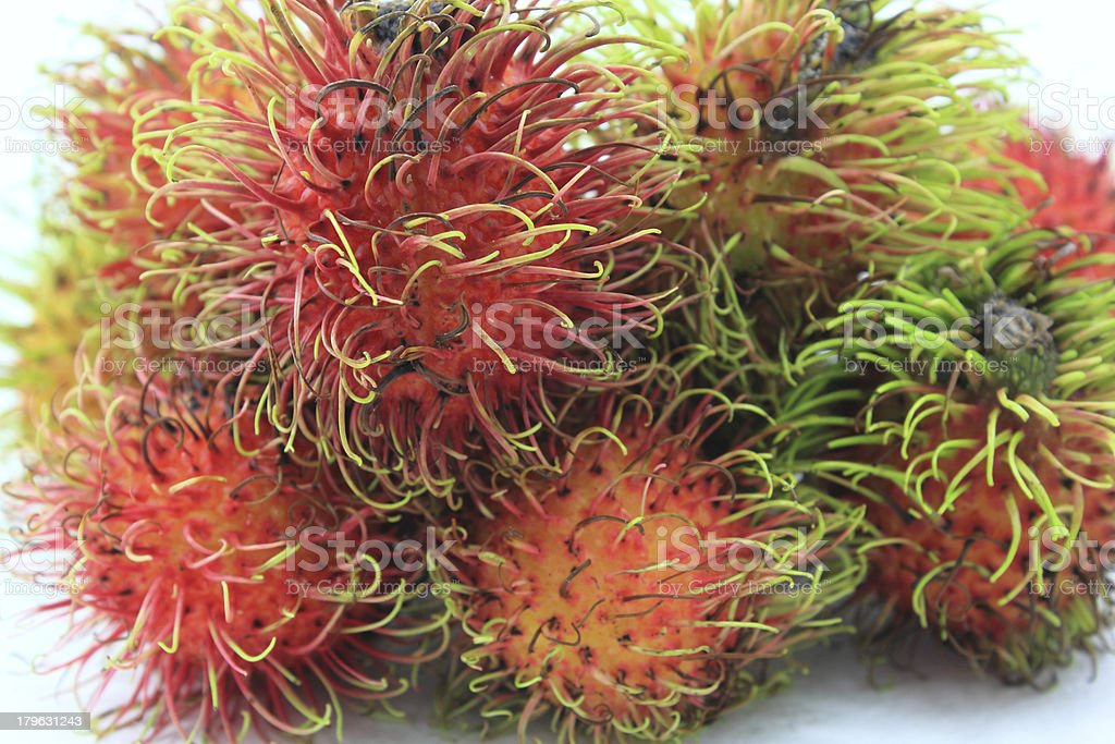 asian fruit rambutan royalty-free stock photo