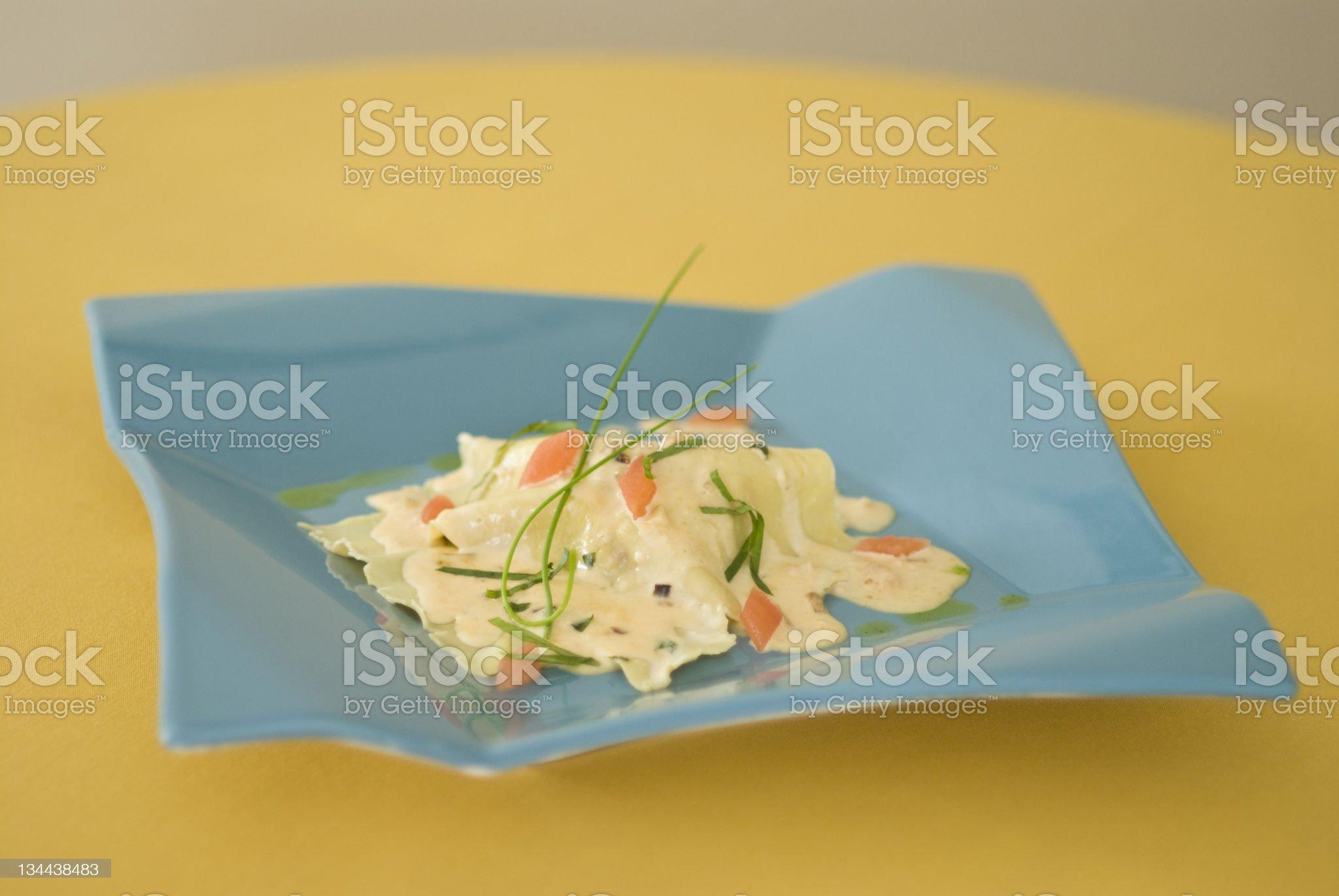 Asian Fusion Seafood Crêpe royalty-free stock photo