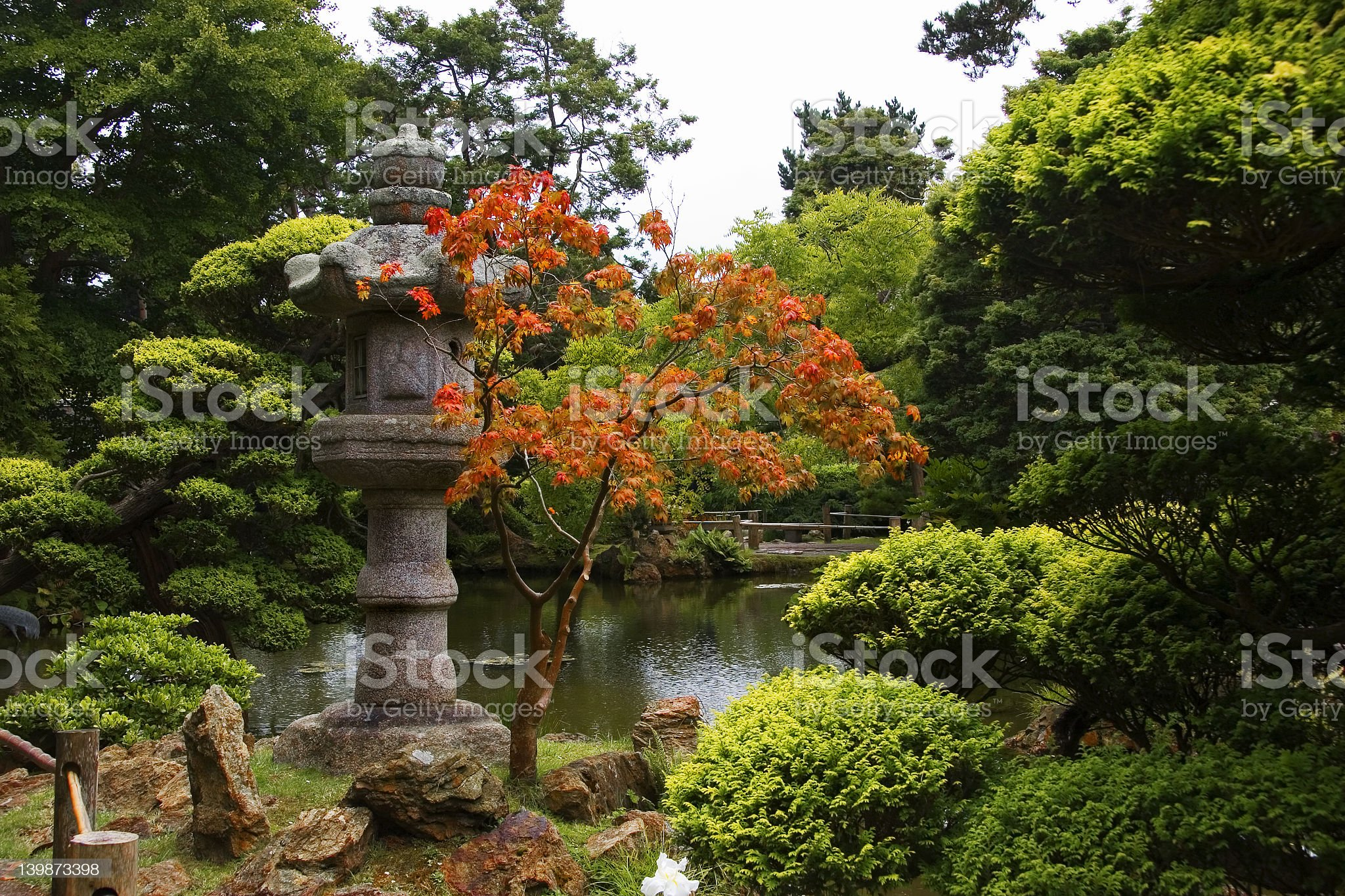 Asian garden royalty-free stock photo