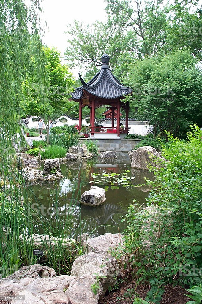 Asian Gardens royalty-free stock photo