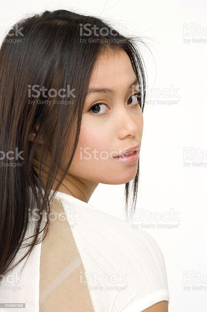 Asian Girl Casually stock photo